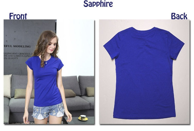 High Quality 18 Color S-3XL Plain T Shirt Women Cotton Elastic Basic T-shirts Female Casual Tops Short Sleeve T-shirt Women 002
