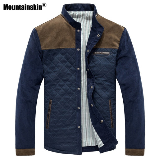 Mountainskin Spring Autumn Men's Jacket Baseball Uniform Slim Casual Coat Mens Brand Clothing Fashion Coats Male Outerwear SA507