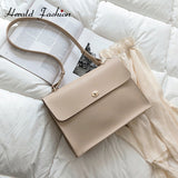 Solid Color Designer Shoulder Handbag - Loren Ashley
