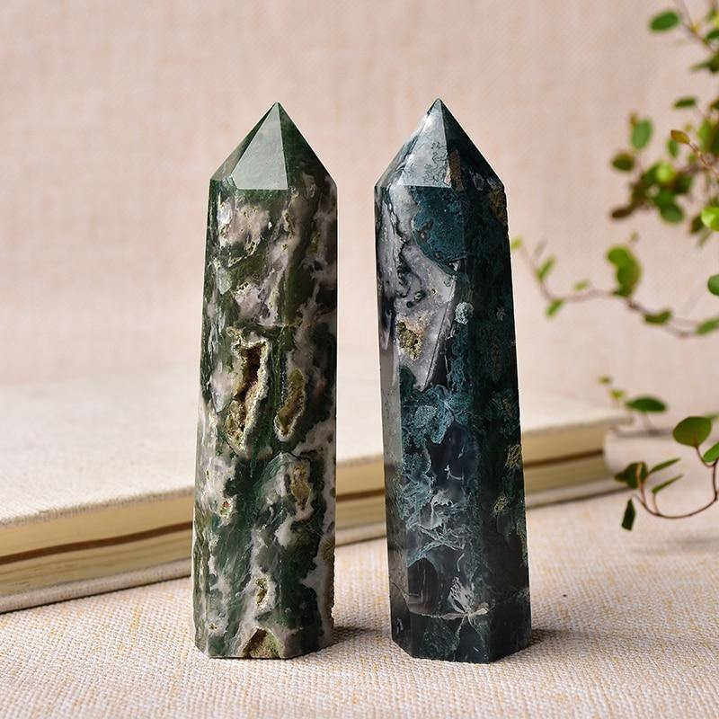 Agate Crystal Point Obelisk - KawaiiKandi