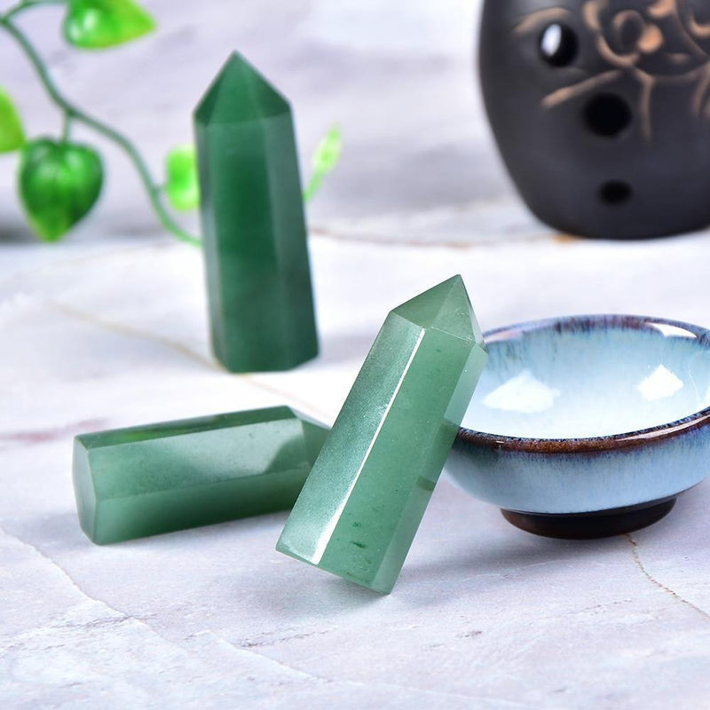 Aventurine Crystal Point Obelisk - KawaiiKandi