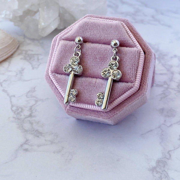 'Classic Key' Earrings - KawaiiKandi