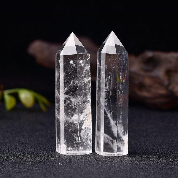 Clear Quartz Crystal Point Obelisk - KawaiiKandi