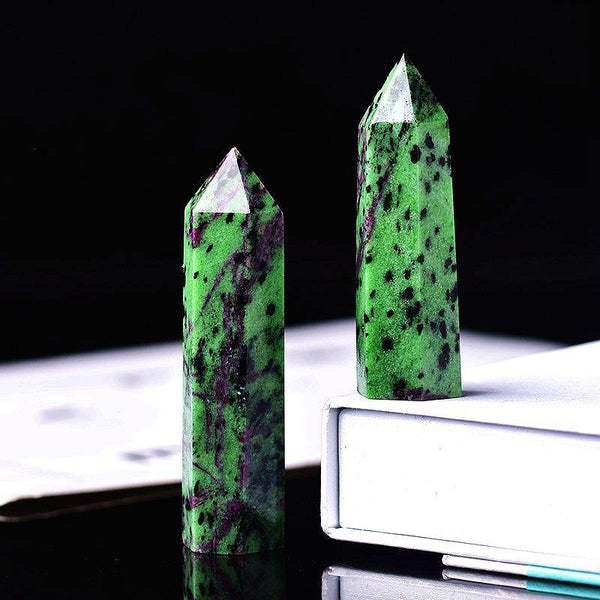 Epidote Crystal Point Obelisk - KawaiiKandi