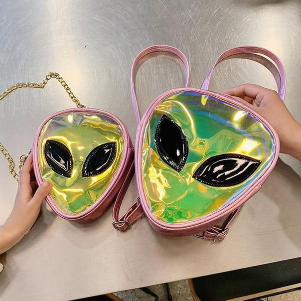 'Ethereal' Alien Transparent Mini Crossbody Bag - KawaiiKandi