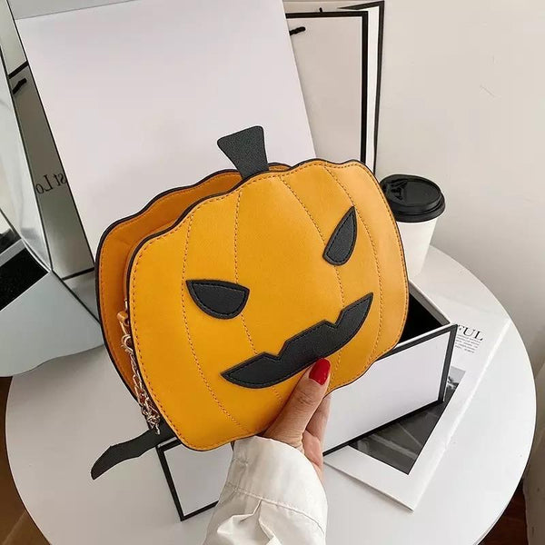 'Jack-o'-Lantern' Pumpkin Crossbody Bag - KawaiiKandi