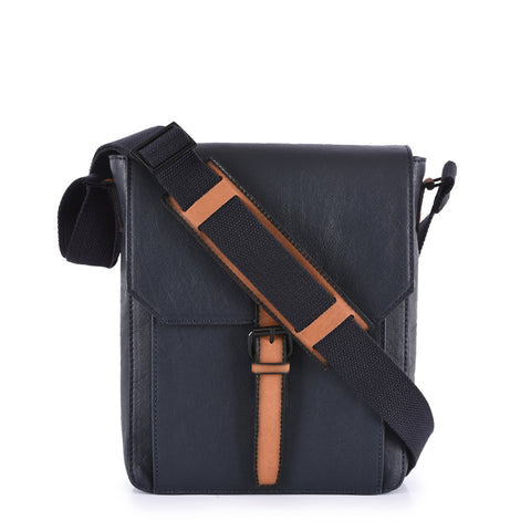 Leather Messenger Bag - PRM869