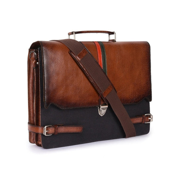 Leather Laptop Bag -PRM632