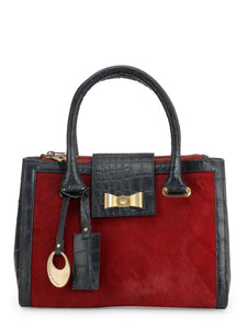 Leather Satchel Bag - PR1061