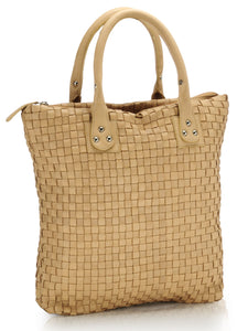 Leather Tote Bag-PR435