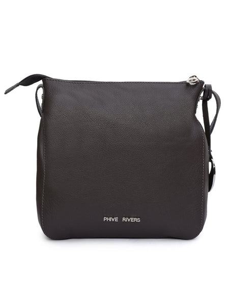 Leather Crossbody Bag - PRU1322