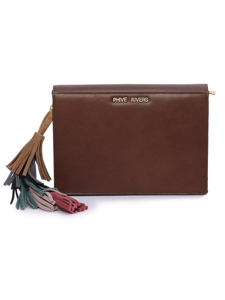 Leather Crossbody Bag - PRU1367