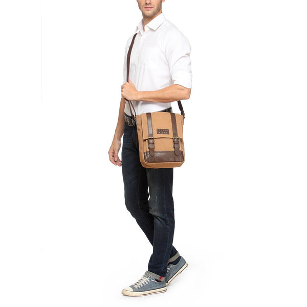 Leather Messenger Bag - PR1149