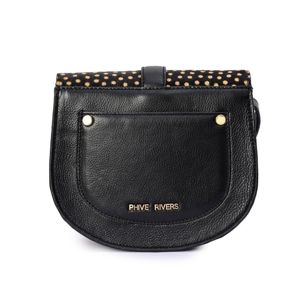 Leather Crossbody Bag - PRU1349