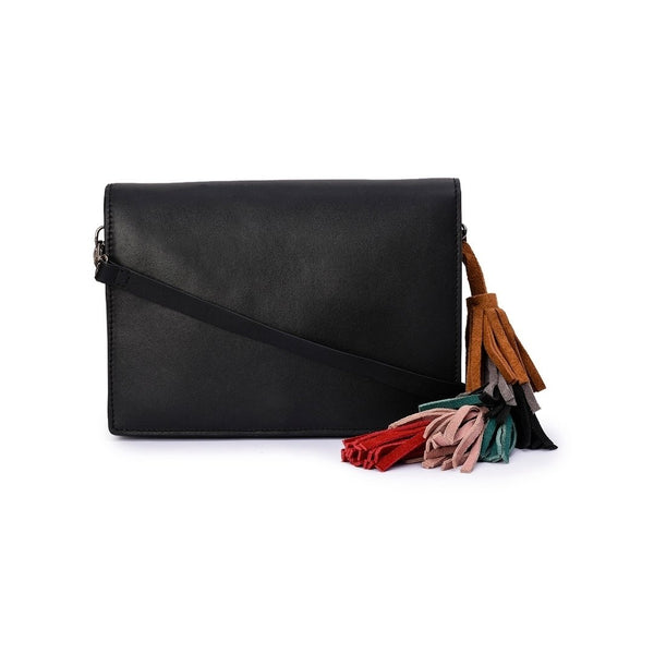 Leather Crossbody Bag - PRU1396