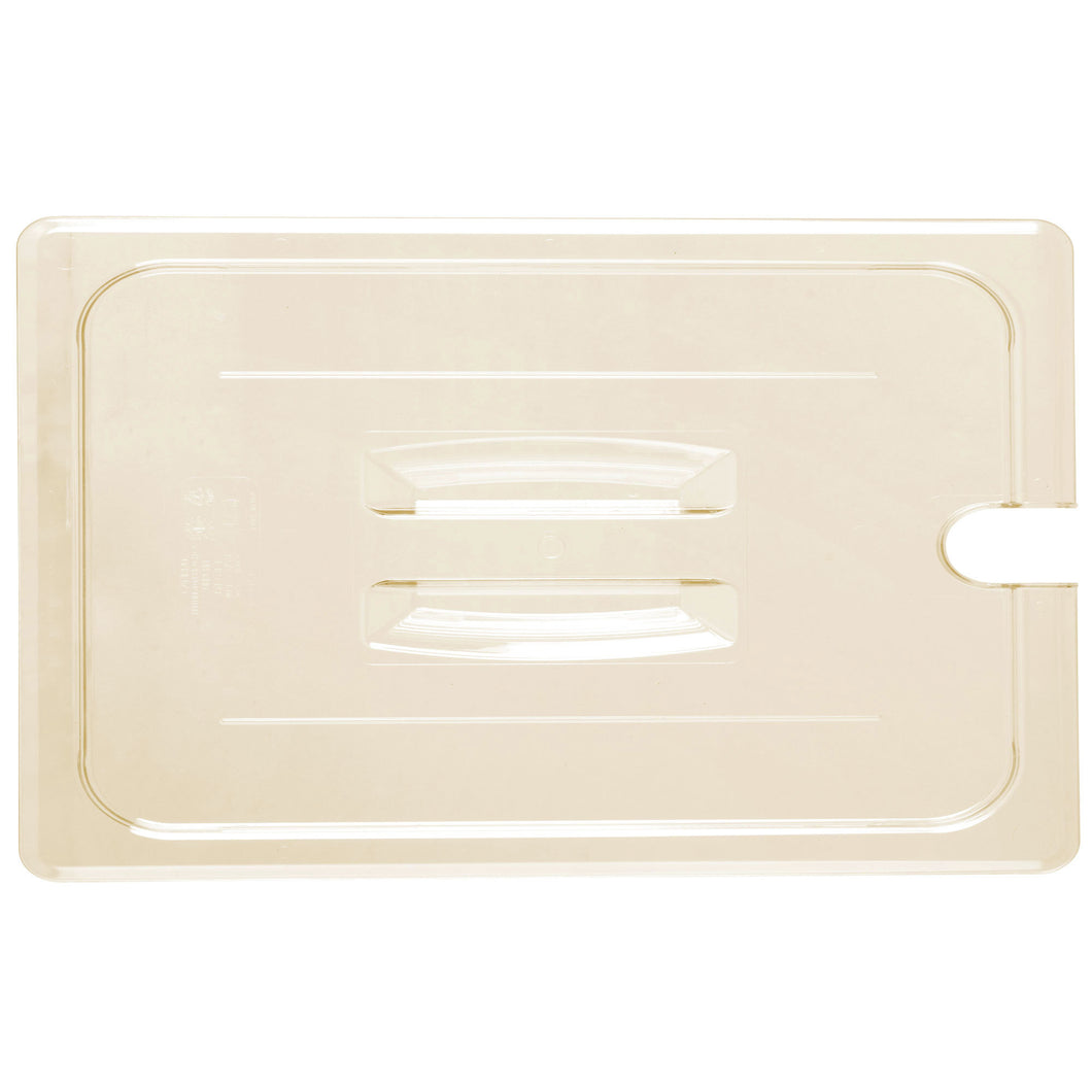 Cambro 10HPCHN150 Full Size Food Pan Cover Notched - Amber