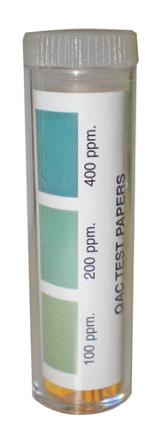 Krowne Metal P25-124 Quaternary Ammonium Test Strips Sanitizer Test Strips 100 Per Bottle