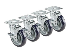 "Krowne 28-101S 3"" Plate Caster With Swivel And Brake"