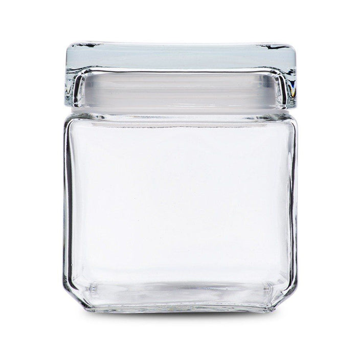 Anchor 85587R 32 Ounce Square Jar With Lid Set of 4