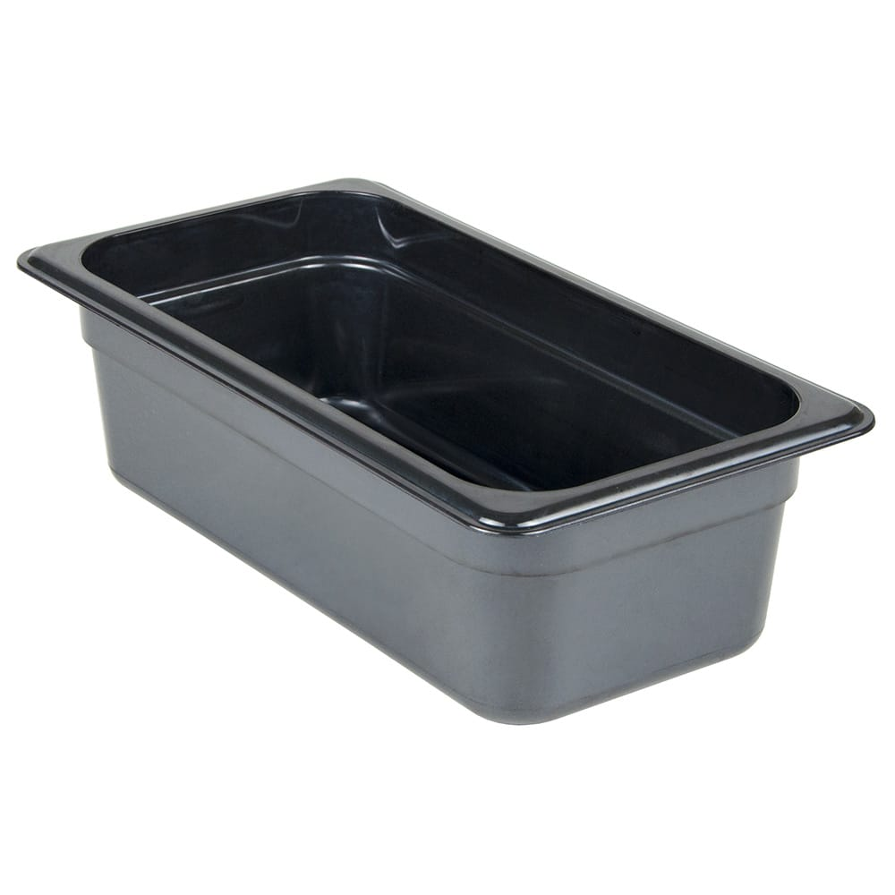 Cambro 34HP771 1/3 Size Food Pan 4in Deep - Black