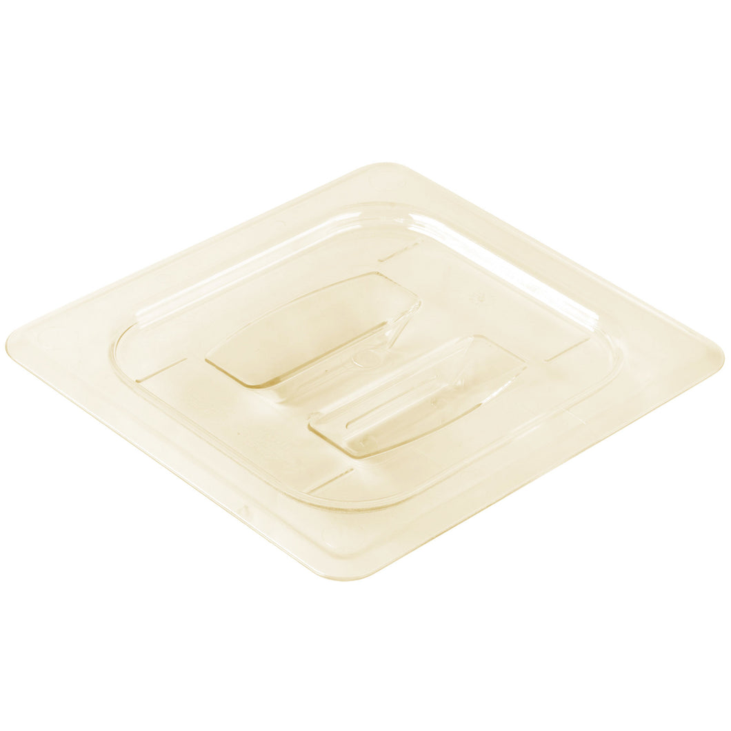 Cambro 60HPCH-150 1/6 Size Food Pan Cover With Handle - Amber