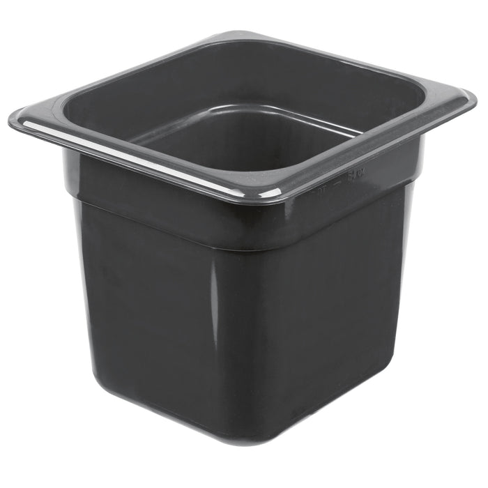 Cambro 66HP110 1/6 Size Food Pan 6in Deep - Black