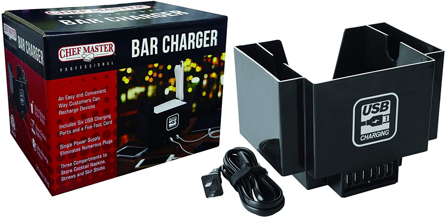 Chef Master 90029 Bar Charger with USB Hub
