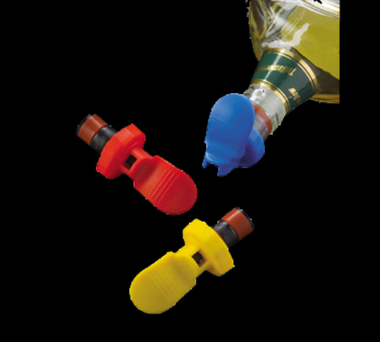American Metalcraft EBSS311 3 Pack Wine Bottle Stoppers - Assorted Colors
