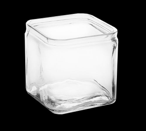American Metalcraft LGJ40 40 Ounce Square Storage Jar