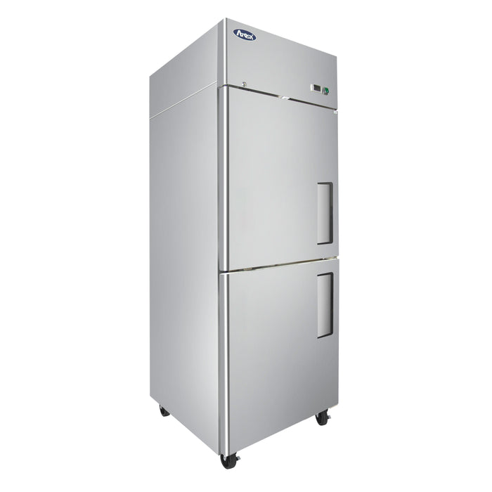 "Atosa MBF8007GRL 28 3/4"" One Section Reach In Freezer With Two Doors (LH) - Stainless"