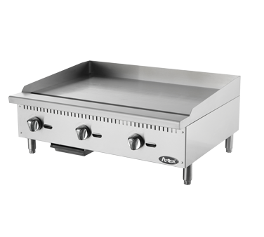 "Atosa ATMG-36 36"" CookRite Heavy Duty Griddle Independent Manual Controls"