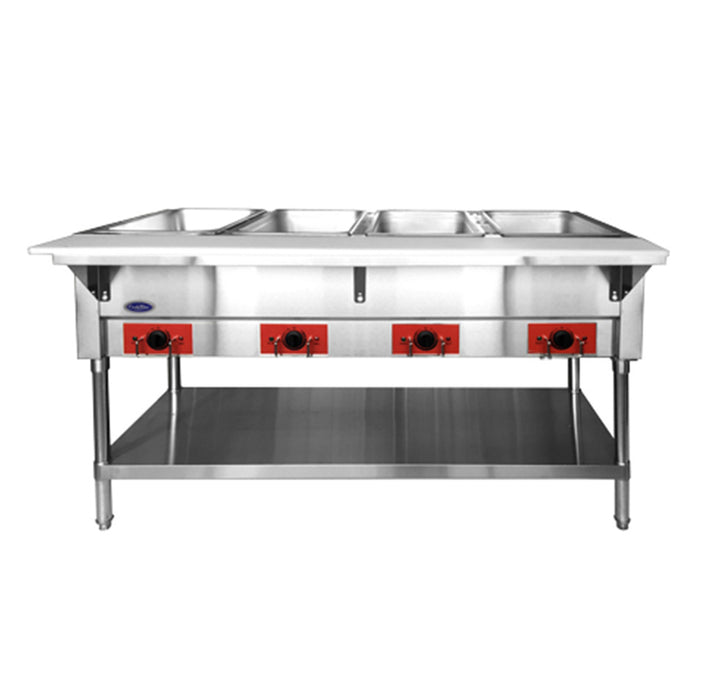 "Atosa CSTEA-4B 58"" CookRite Electric Steam Table With Pans Included"