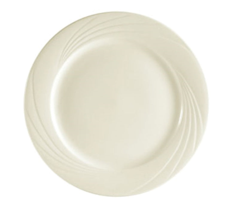 "CAC China GAD-9 Garden State 9 3/4"" Plate (Case Of 24) - White"