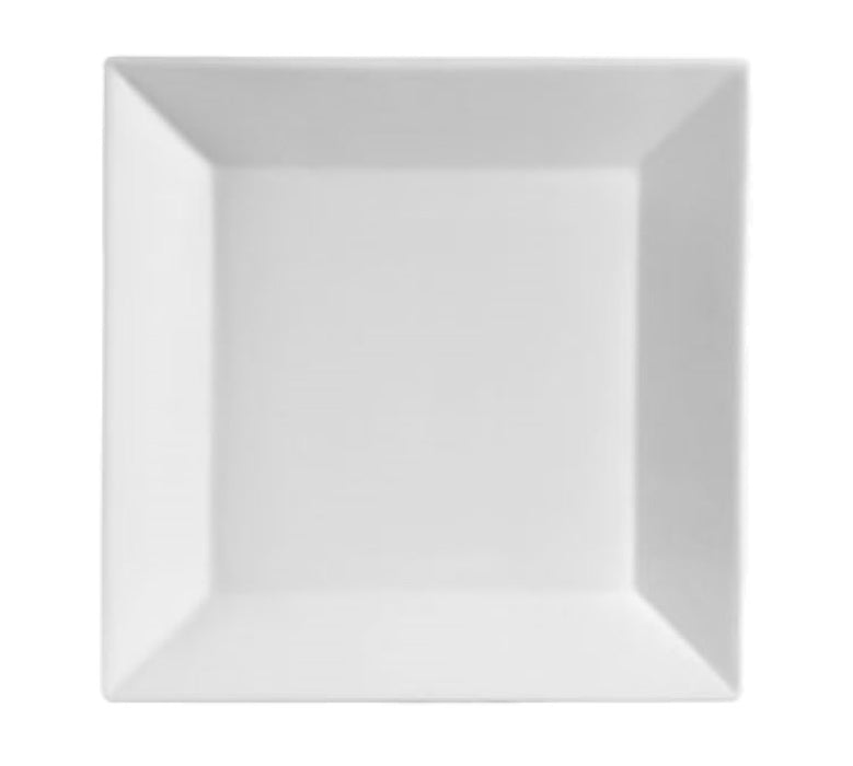 "CAC China KSE-20 Kingsquare 11"" Square Plate (One Dozen) - White"