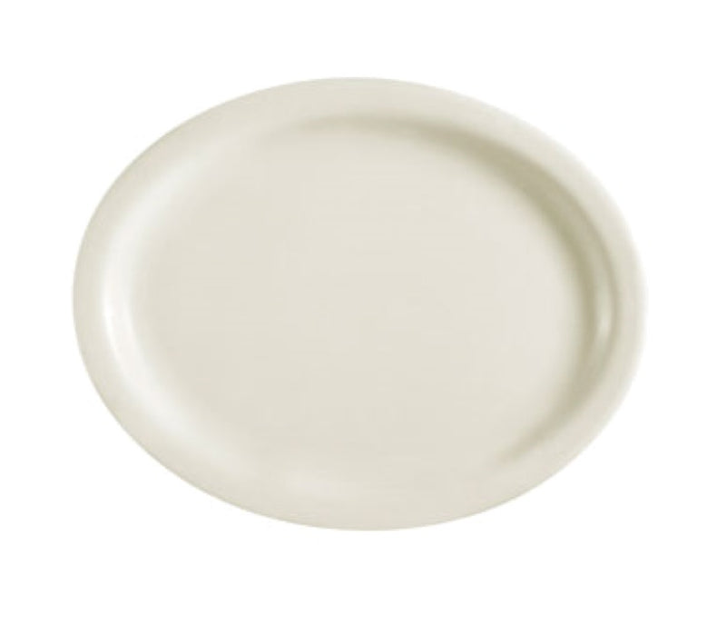 CAC China NRC-41 NRC 8 5/8 Oval Platter (Case Of CH36) - White