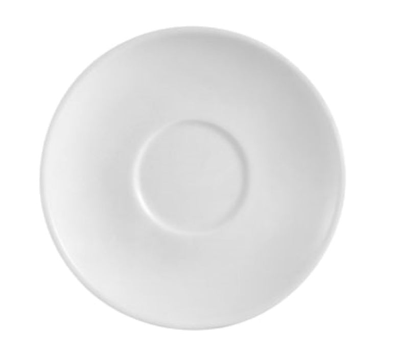 "CAC China RCN-36 Clinton 4 1/2"" Saucer (Case Of 36) - White"
