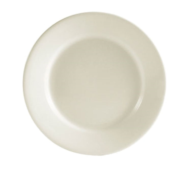 "CAC China REC-6 REC 6"" Round Plate (Case Of 36) - White"