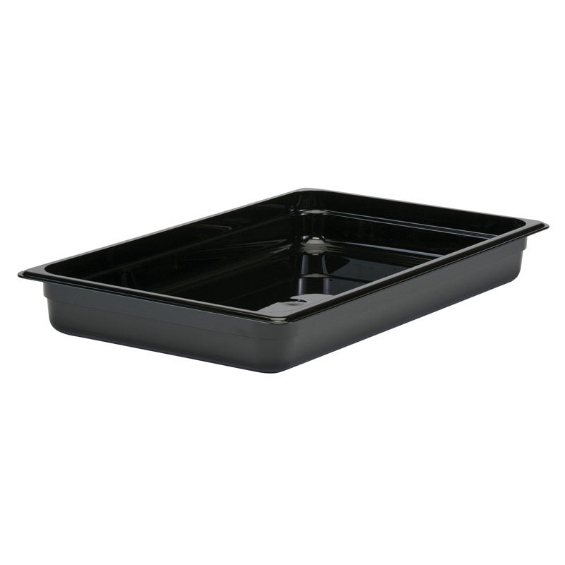 Cambro 12CW110 Full Size Food Pan 2 1/2in Deep - Black
