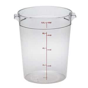 Cambro RFSCW8135 Round 8 Qt. Storage Container