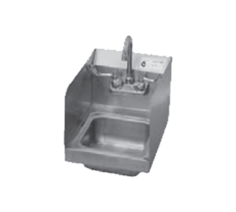 "Serv-Ware HS10S-CWP Economy 12"" x 16"" Wall Mount Hand Sink - Stainless"