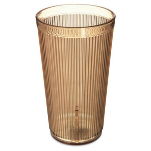 Carlisle 402013 20 Ounce Stackable Tumblers (Case Of 48) - Amber