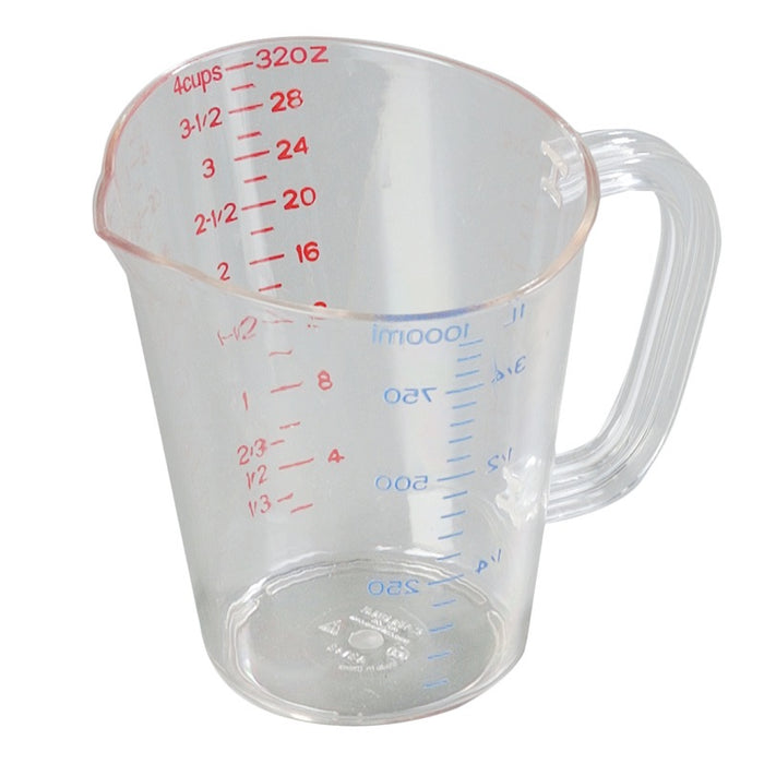 Carlisle 4314307 32 Ounce Oval Measuring Cup