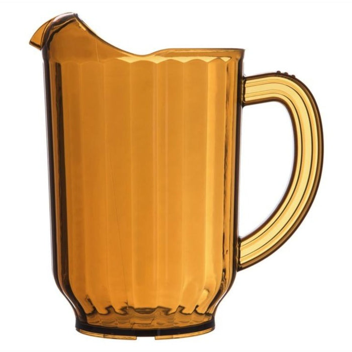 Carlisle 5540-13 60 Ounce Polycarbonate Pitcher - Amber