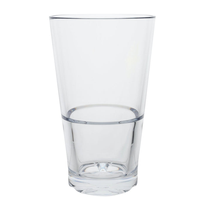Hospitality Brands 710203 20 Ounce Stack Cooler Glass (One Dozen) - Clear