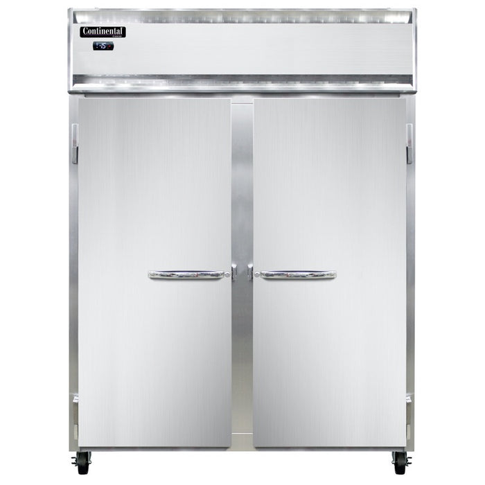 "Continental 2FE-LT-SA Extra Wide 57"" Two Section Freezer - Stainless"