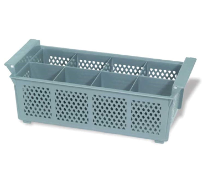 Crestware FWB8 8 Compartment Flatware Rack - Gray