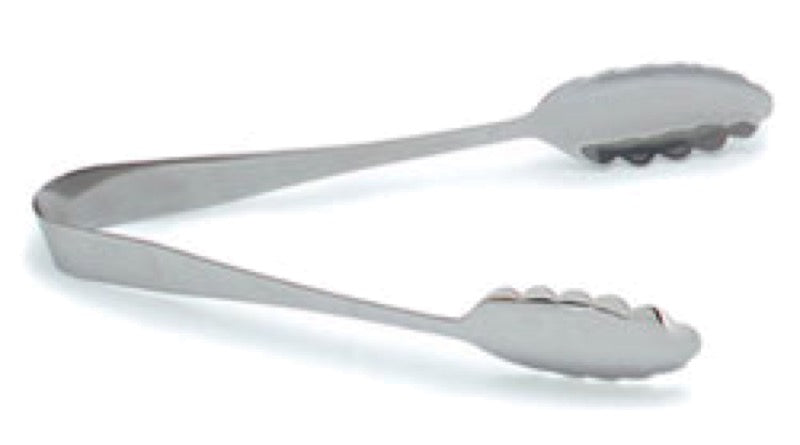 "Carlisle 607683 10 1/2"" Scalloped Tongs - Stainless Steel"