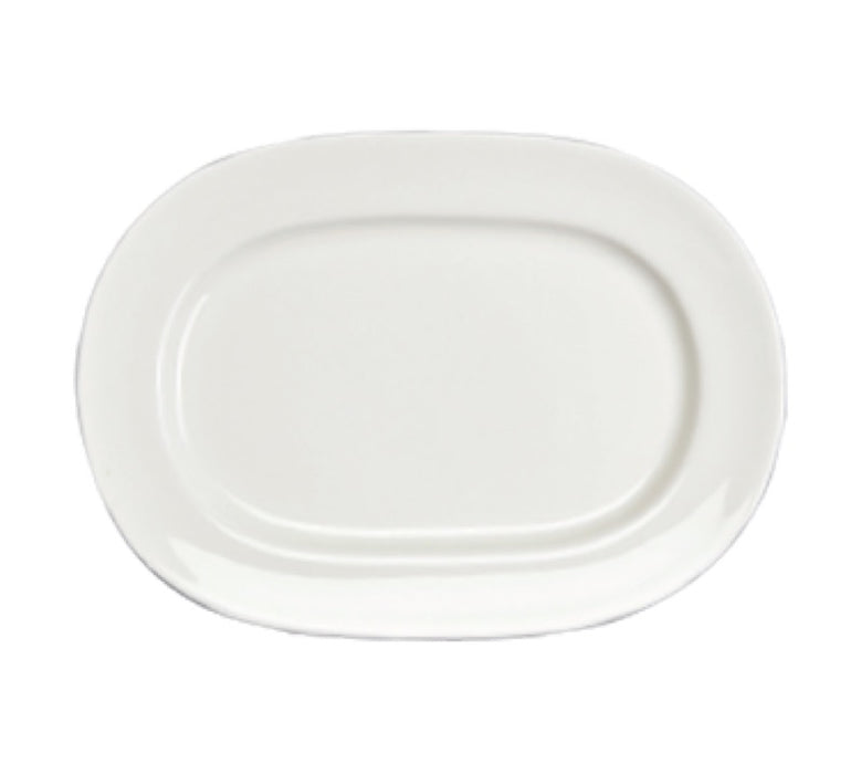 "Homer Laughlin 6486000 Pristine 11 5/8"" Oval Platter (One Dozen) - White"