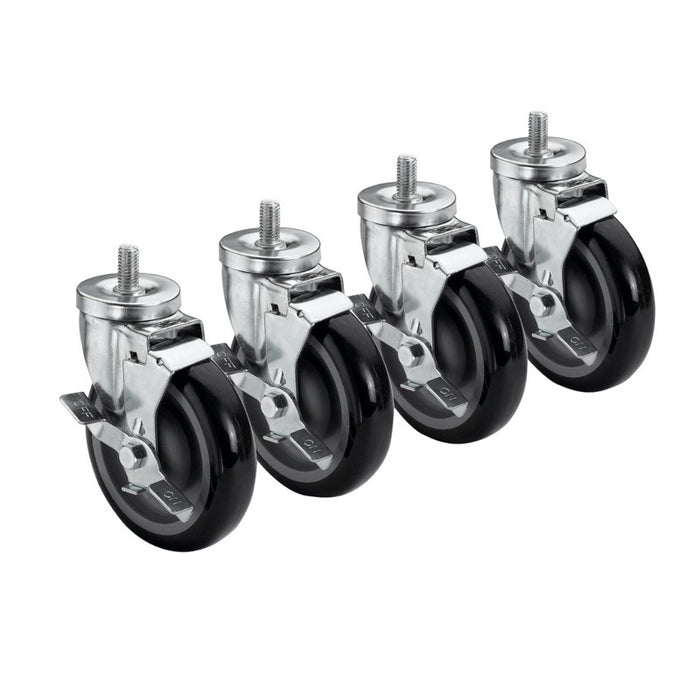 "Krowne 28-145S 5"" Stem Casters With Brake"