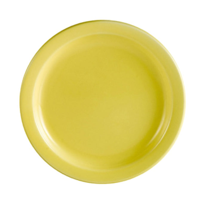 "CAC China L-7NR-Y Las Vegas 7 1/4"" Plate (Case Of 36) - Yellow"